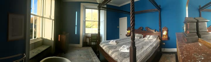 The Blue Bedroom at Balintore Castle