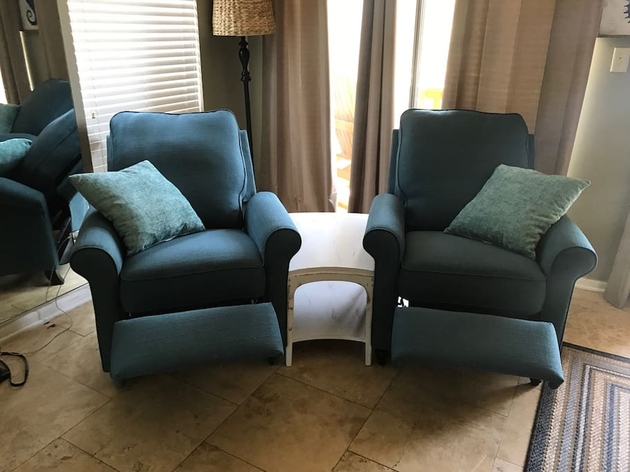 Recliners in living room. Brand New Also!! 6/20/18