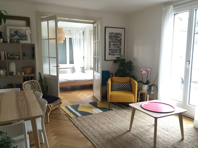 Chambre double dans joli appartement - Lausanne - Apartment