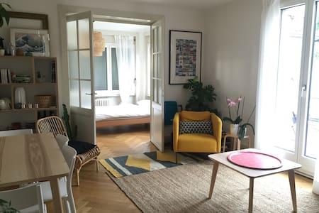 Chambre double dans joli appartement - Lausanne