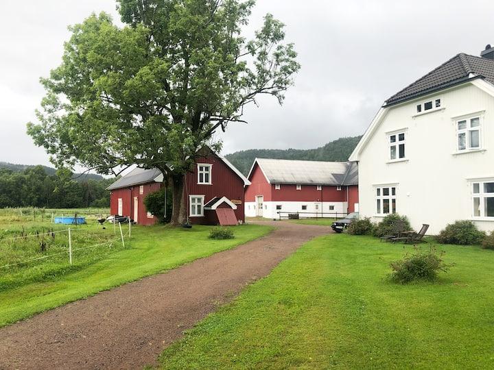 "Camp ""Sørstua Farm"" Lågendalen in southern Norway"