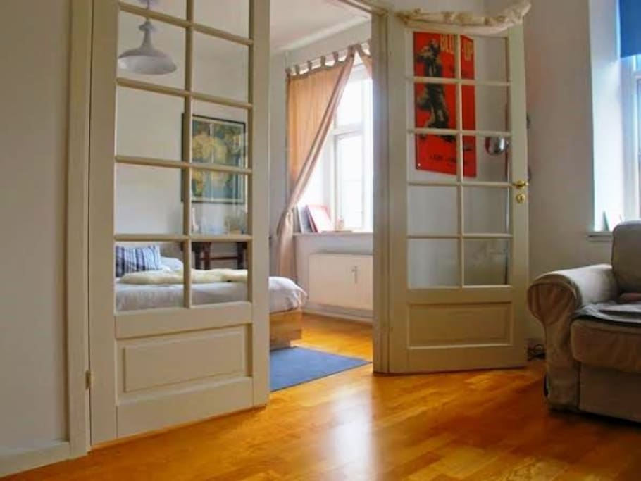 View of the bedroom from the living room