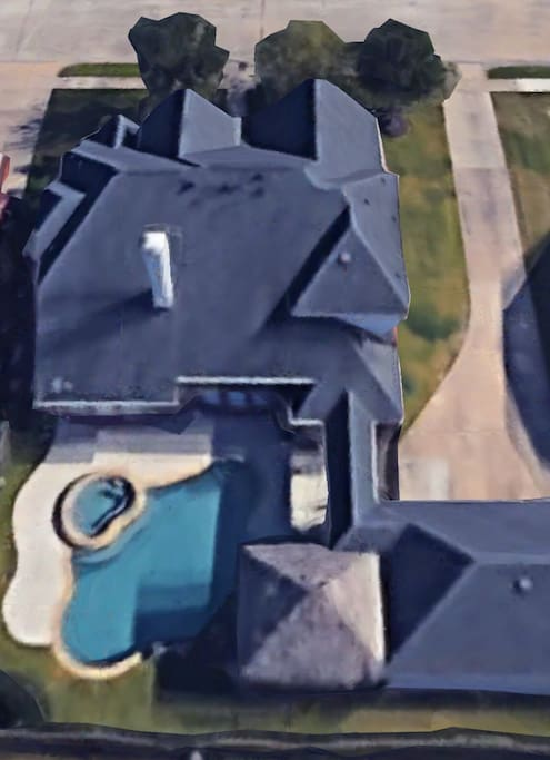 Google Earth view of the house