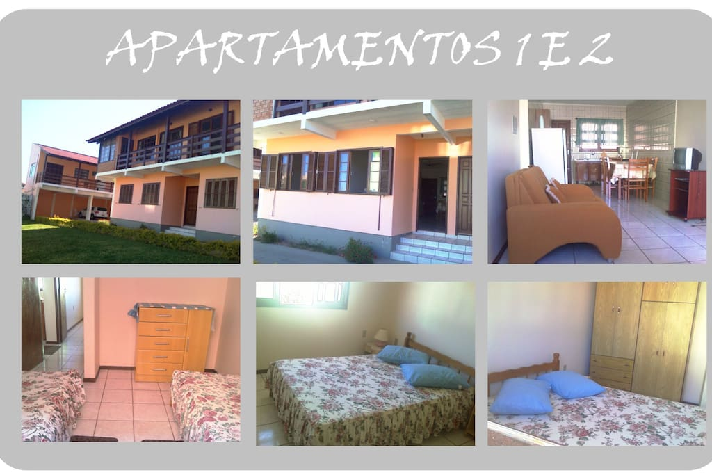 Apartamentos 1 e 2 - Para 5 pessoas.