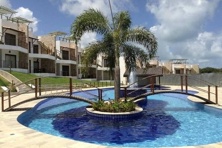 Flat Cobertura | Solarium+Jacuzzi+Piscina - 109 - Tibau do Sul - Apartment