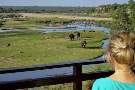 Let The Kruger's Big 5 Come To You - Crocodile River, Kruger Park - Rumah