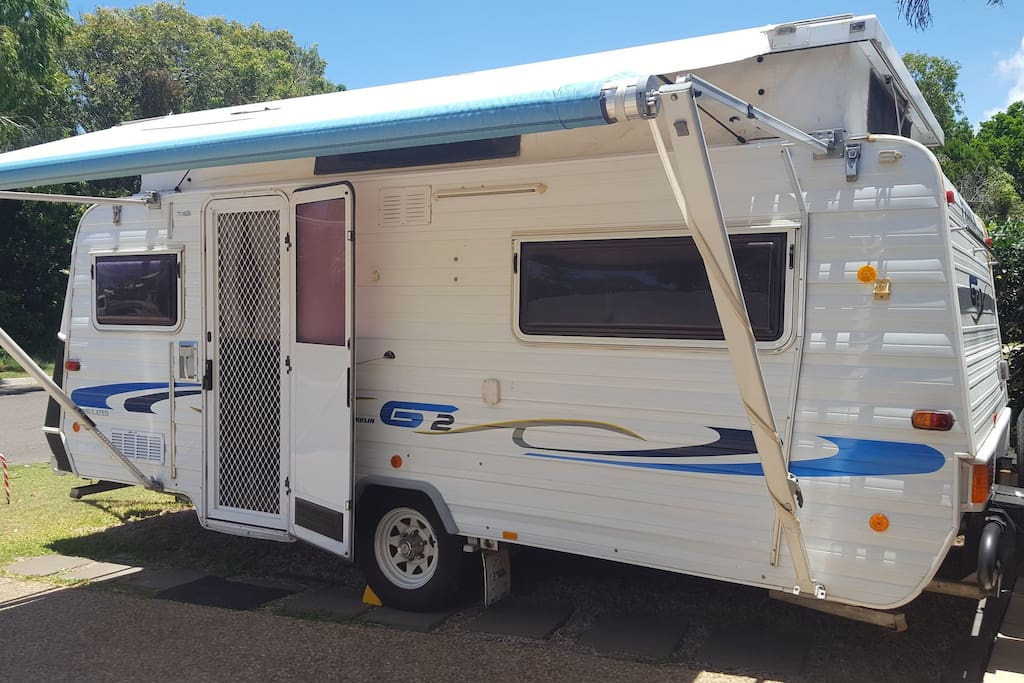 Our clean, comfortable and modern Franklin Caravan