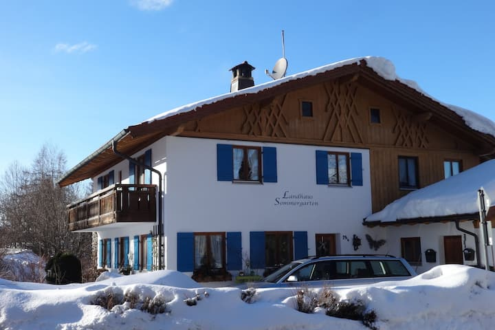 Riverfront Holiday Home in Bad Bayersoien | Garden | Balcony