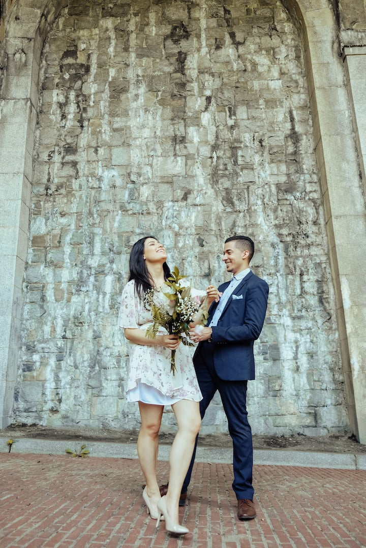 Couples shoot at Fort Tryon Park