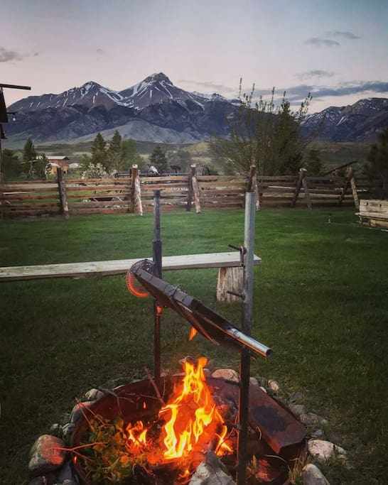 Enjoy a camp fire right below Mt. McCaleb