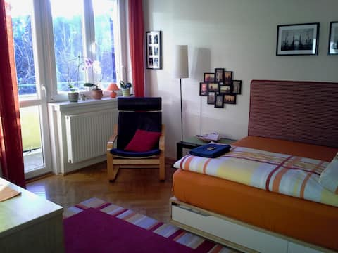 Bright double room for rent in the heart of Buda