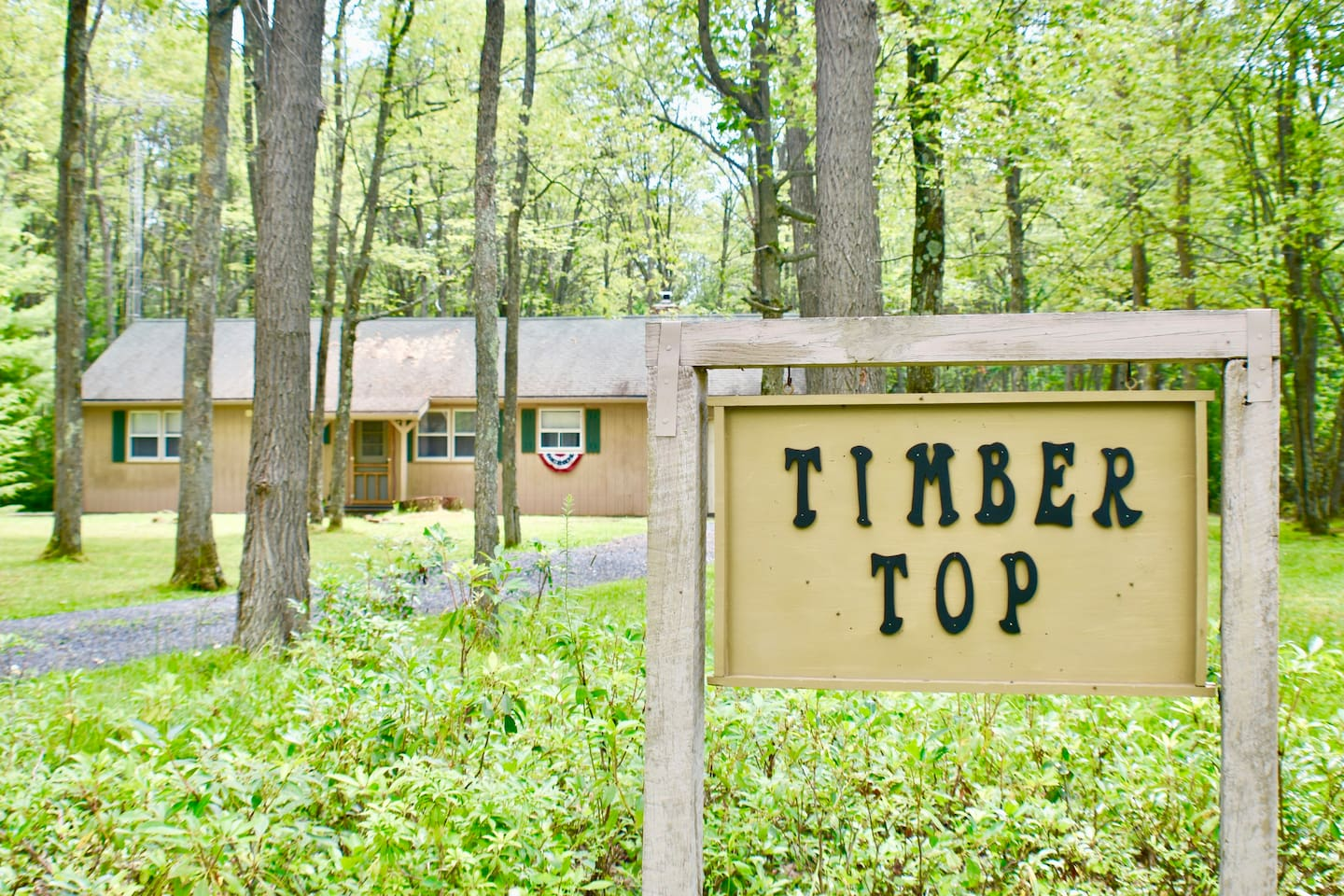 Timber Top! During summer time. Come walk or bike the nearby Pine Creek Rails to Trails.  Simply enjoy the beauty mother nature has to offer.