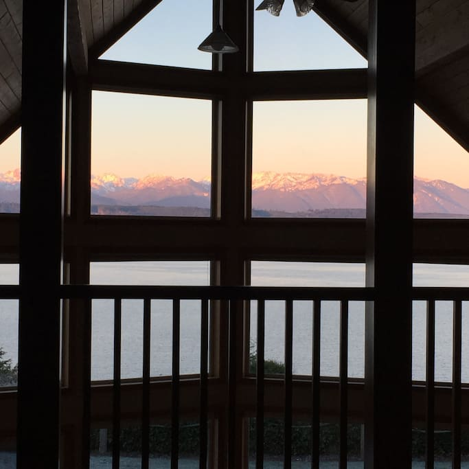 The sunrise view from the master bed