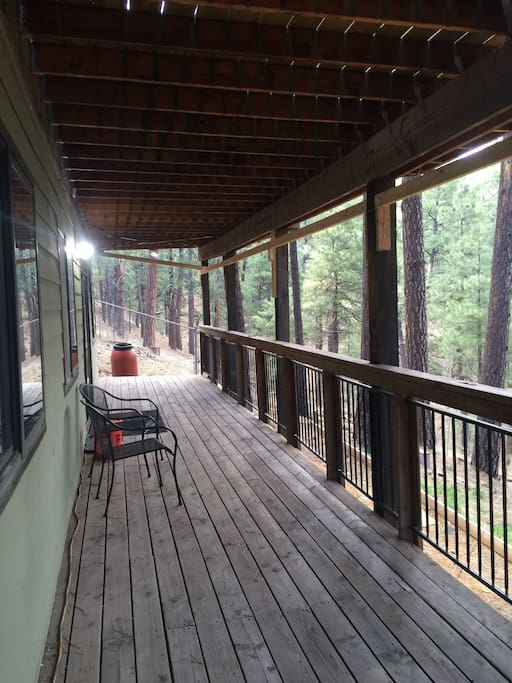 You have your own private deck to enjoy a cup of coffee or wine or simply enjoy the solitude!