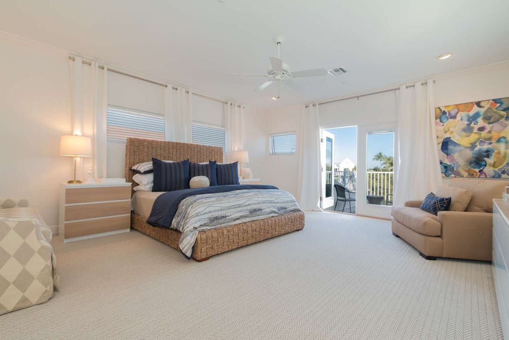 Entire upper level of home is dedicated to this truly incredible master suite with en suite bath and private balcony.