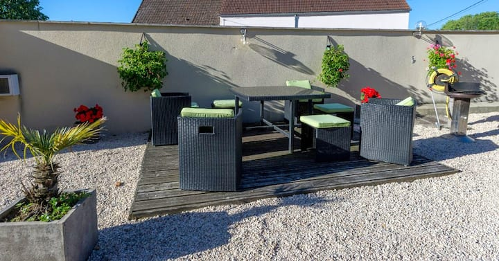 House with one bedroom in Premeaux-Prissey, with enclosed garden and WiFi