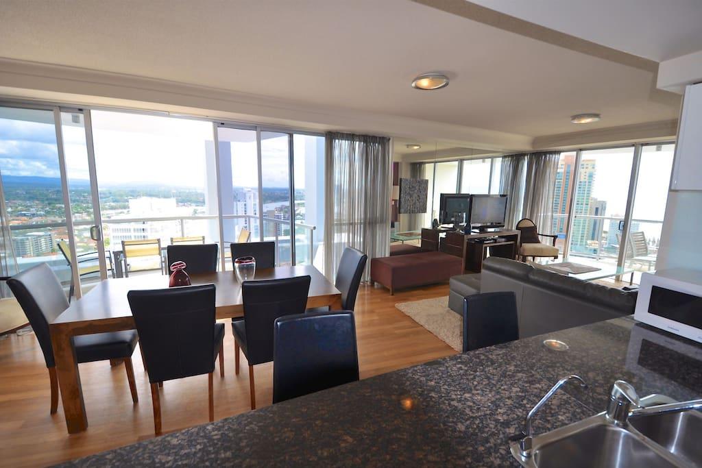 Inside apartment 2301