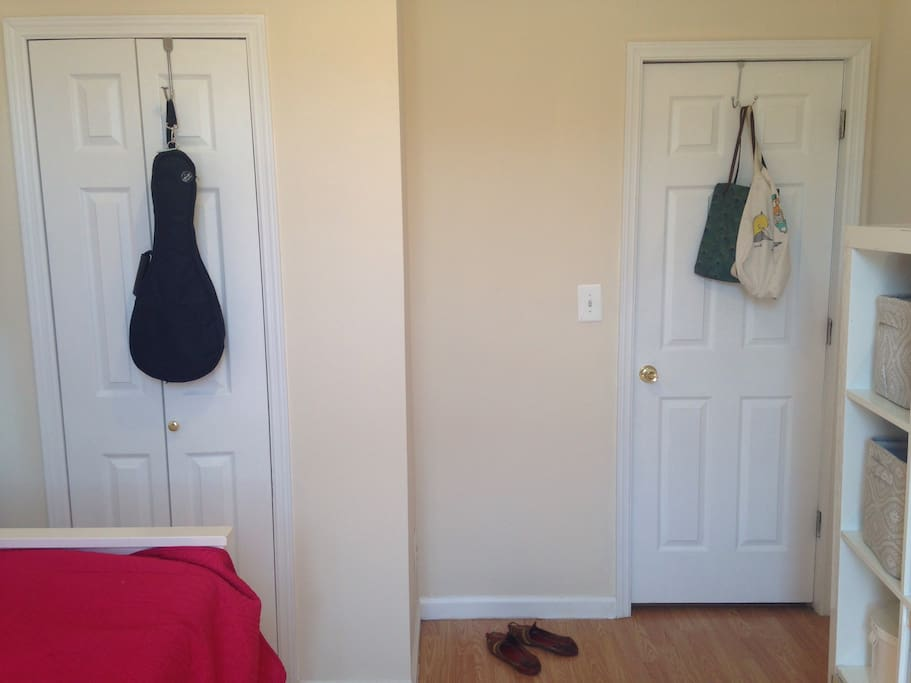 Ample closet space -sorry, ukulele not included :)