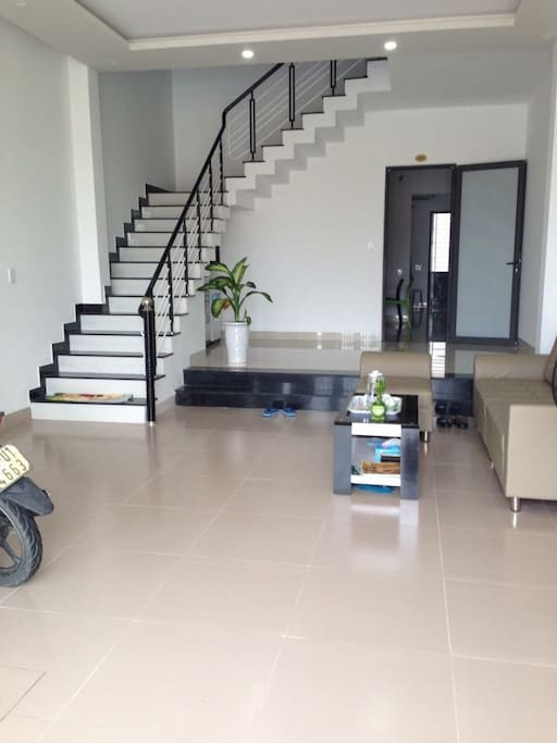 Massive ground floor  with huge space for motobike