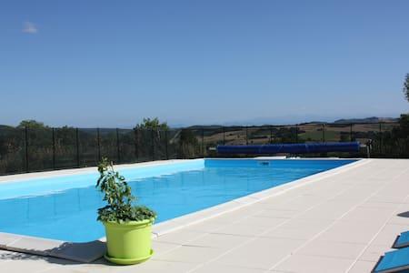 PECH BELO, piscine, vue, calme - Gaja-la-Selve