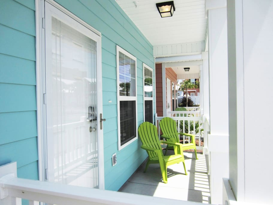 Front Porch with Relaxing Chairs