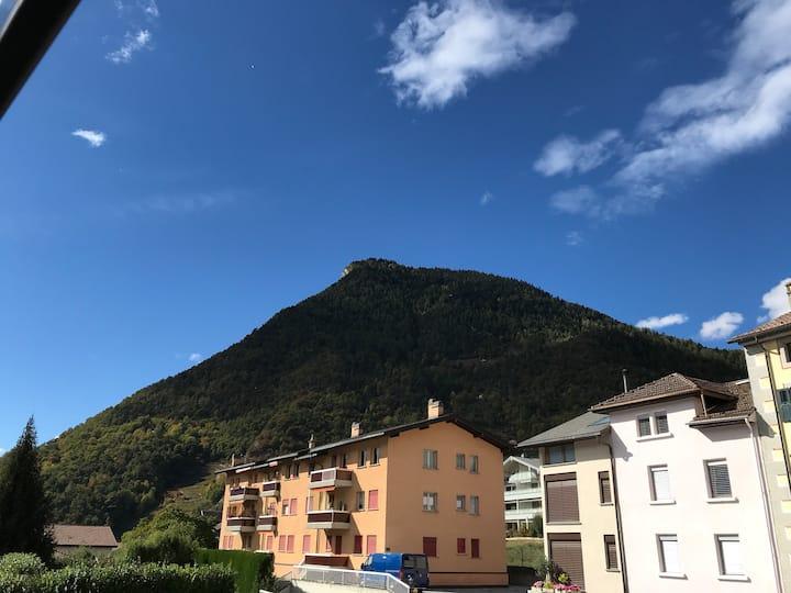 Chambre cosy au cœur des Alpes