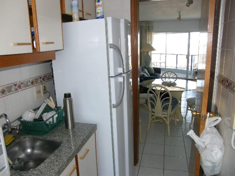 Cocina desde terraza
