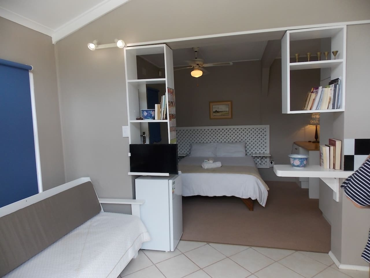 Bedroom from lounge/kitchenetter