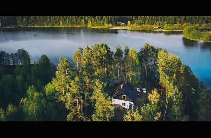 Summer house on the lake Pomerania voievoidship
