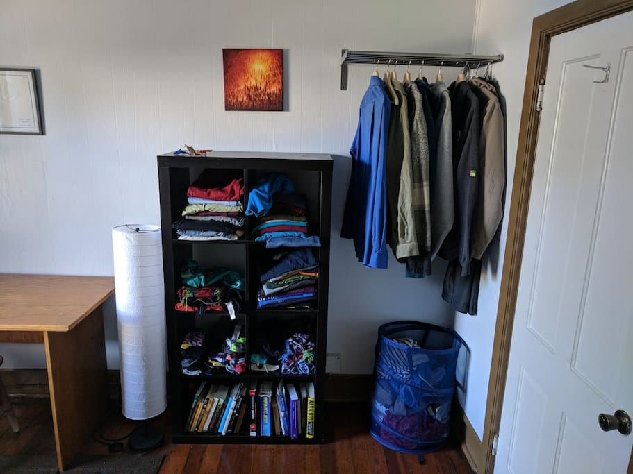 I will probably keep some of my clothes here, but you can use any unoccupied space