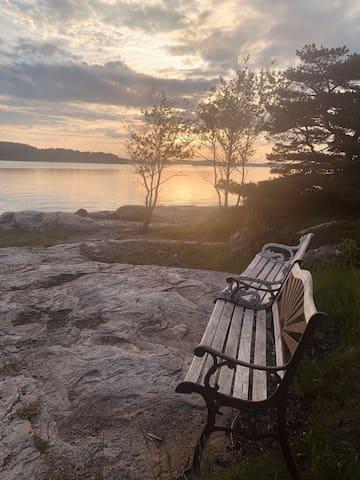 Ljus lägenhet med havsutsikt utanför Uddevalla