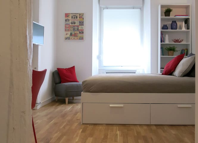 Bel étage: cozy studio 200m from historical center - Mulhouse - Apartamento