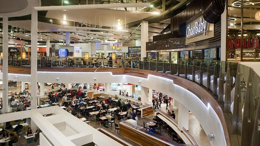 Meadowhall Oasis dining quarter - has many restaurants & fast food outlets