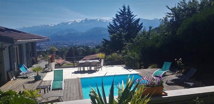 Grenoble sur les hauteurs : vue exceptionnelle !