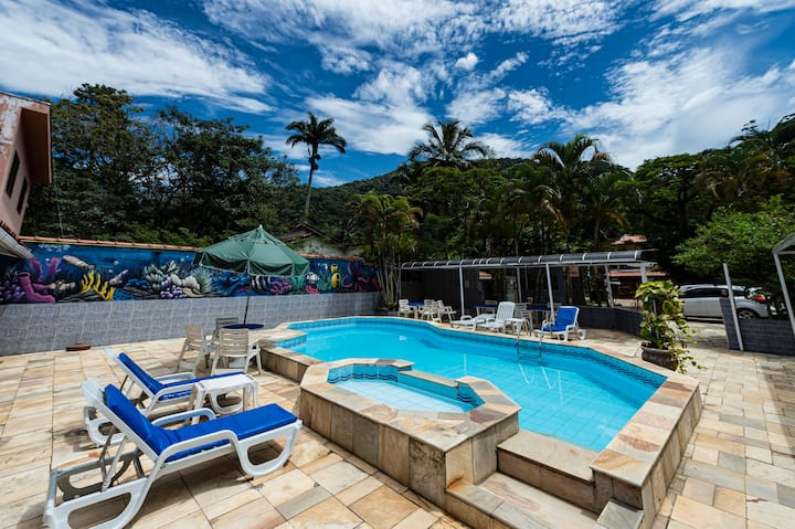 Pousada Ubatuba Tropical - Quarto Quadruplo