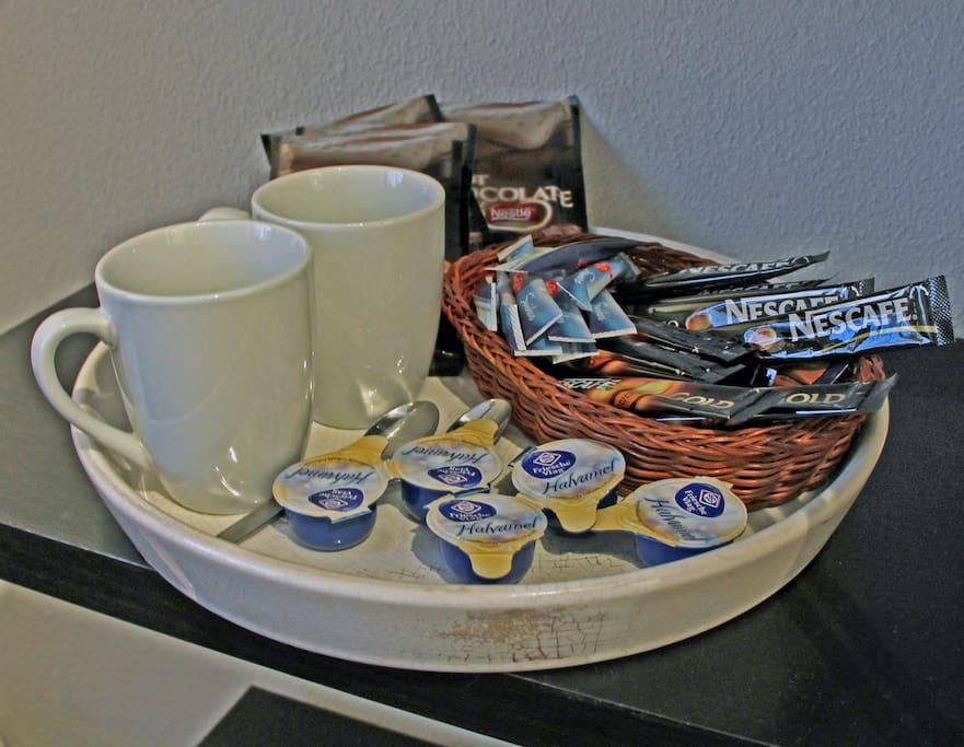Koffie en thee op de kamer