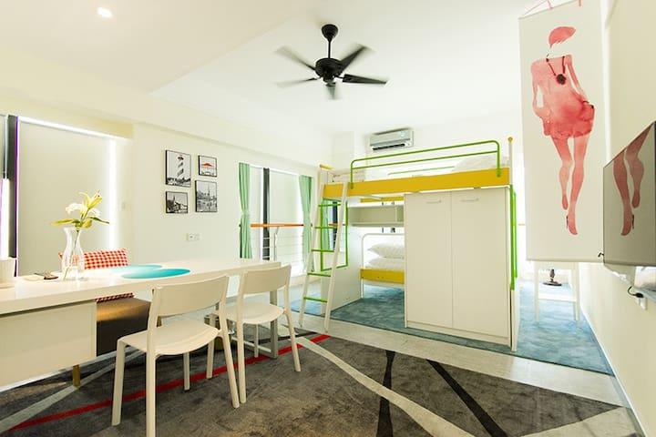 燕子云居智能动居民宿(曼哈顿升龙大厦)2501 - Zhengzhou - Wohnung
