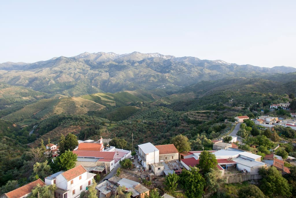 Panoramic view of the south part of the village...