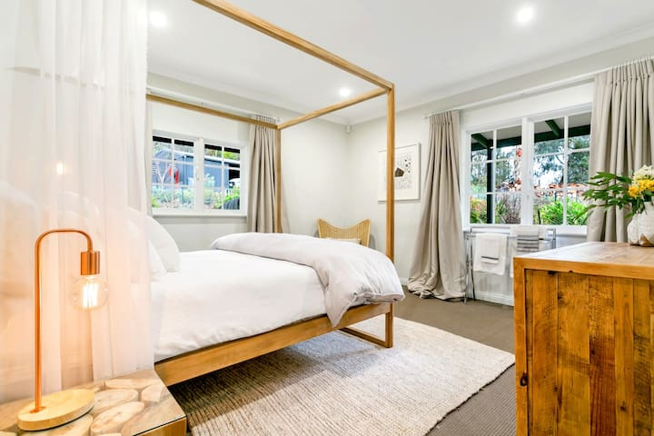 Choose a bedroom to suit your style. Each is uniquely styled.