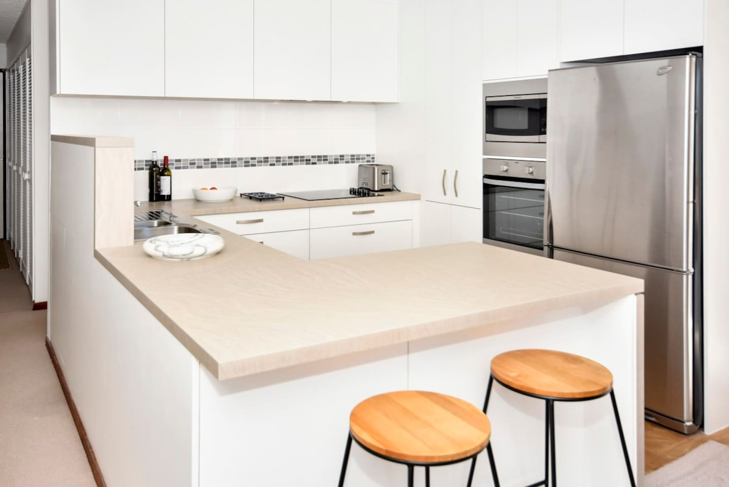 A brand new kitchen and appliances