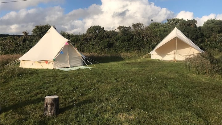 2 Pretty Furnished Bell Tents near Praa Sands