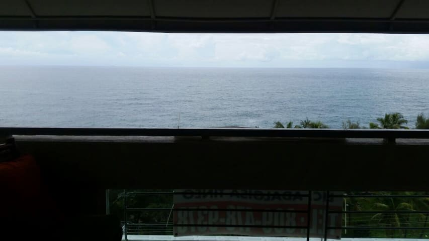 Apartment with a beautiful ocean view top floor!