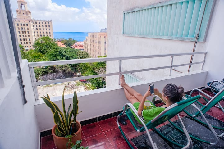 DeLuxe #apartment front National Hotel & Sea Views