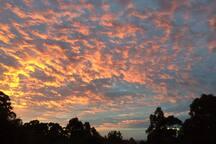 Sunrise looking towards Melbourne