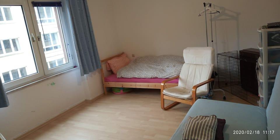 Eingerichtete 40m²-Wohnung+Küche+Balkon