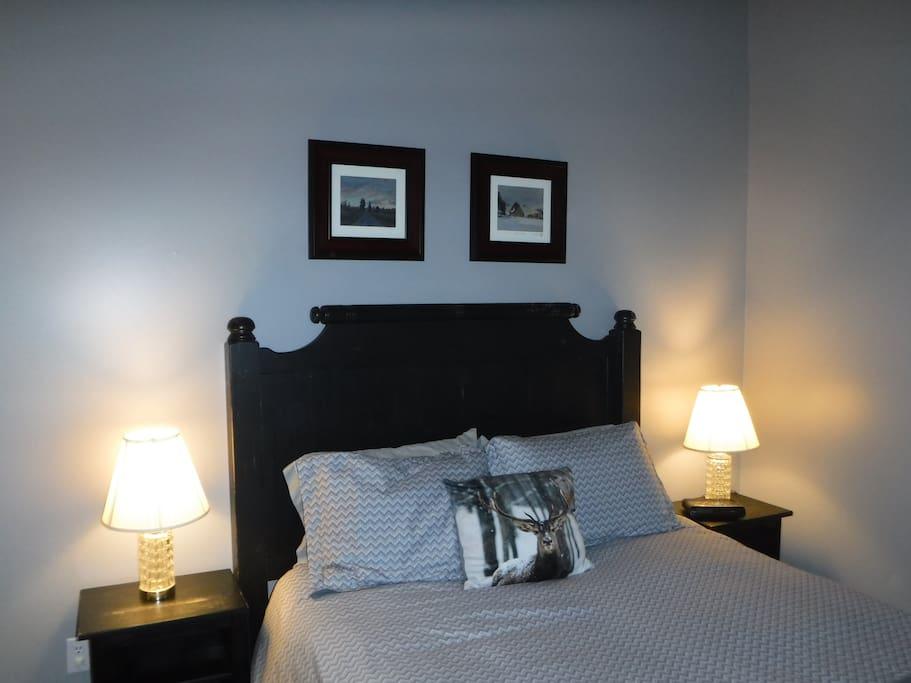 Comfortable Queen Bed upstairs