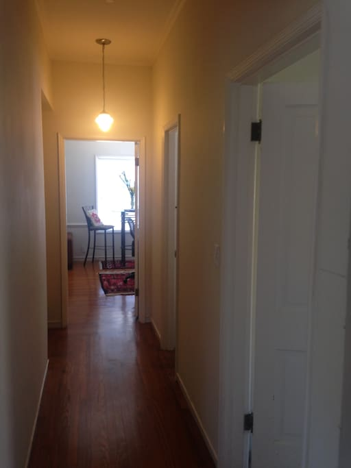 Corridor leading to Guest Bedroom and Private Guest Bathroom