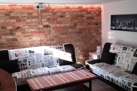 20m2 room with two beds on -1 level in Warsaw - House