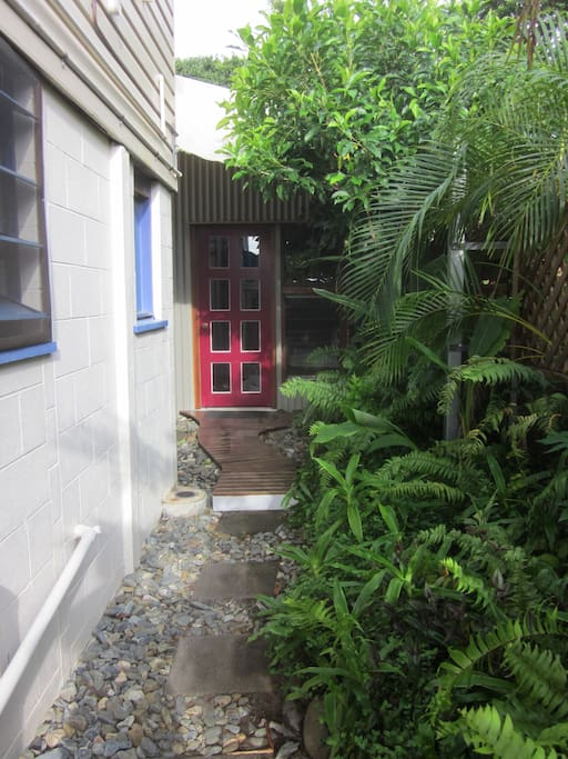 Entrance to the room.