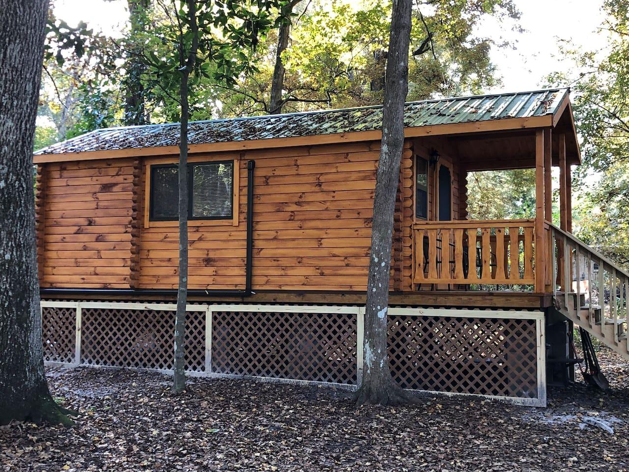 Beautiful Amish made log cabin/tiny home